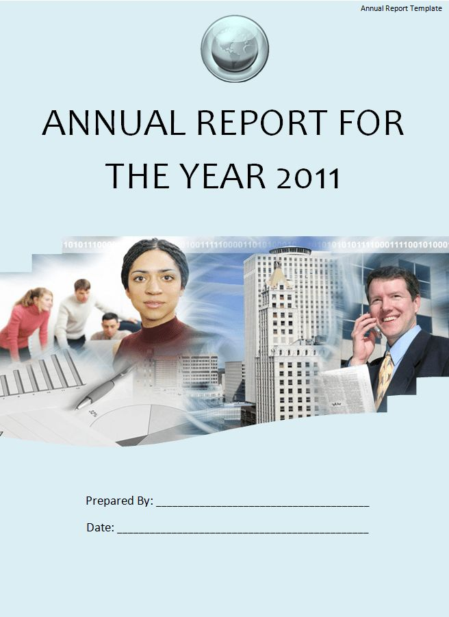 Annual Report Template | Free Printable Word Templates,