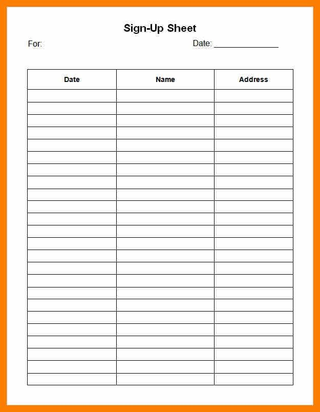 6+ free printable sign in sheets | hostess resume