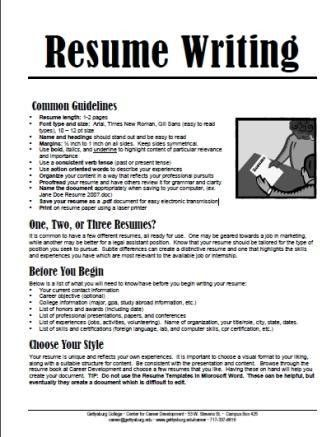 Download How To Write A College Resume | haadyaooverbayresort.com