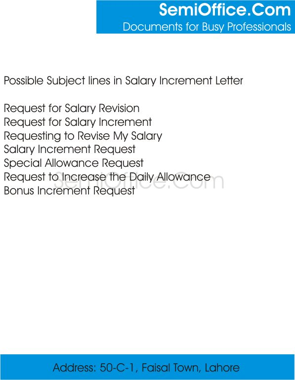 request salary increment. salary request letter u2013 free sample ...