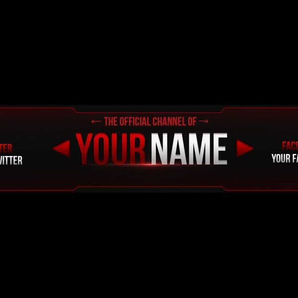 Free Photoshop Banner Template – Youtube within Banner Template ...