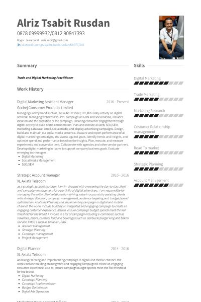 Strategic Account Manager Resume samples - VisualCV resume samples ...