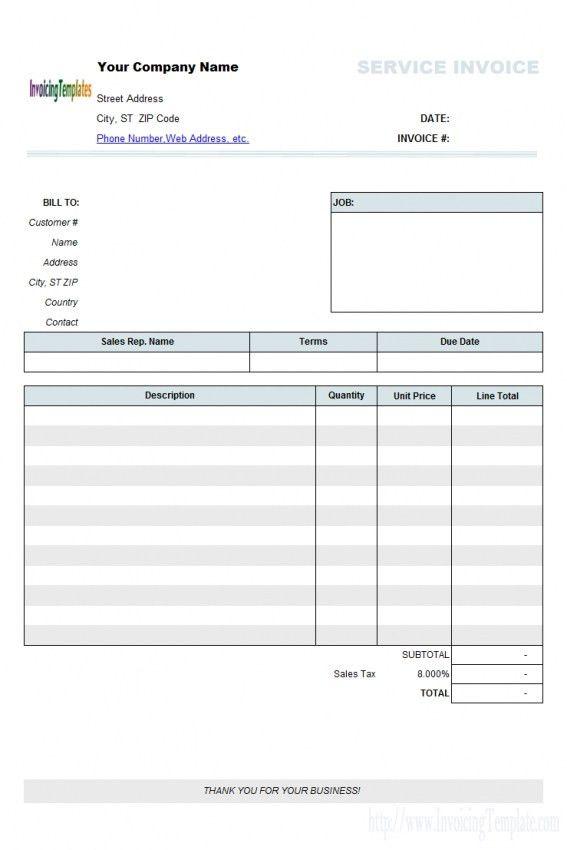 Editable Invoice Template Word | Design Invoice Template