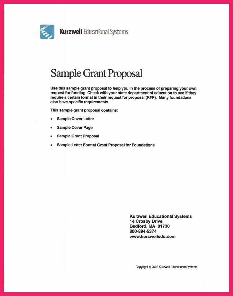 grant proposal cover sheet sample grant proposal cover. sample ...