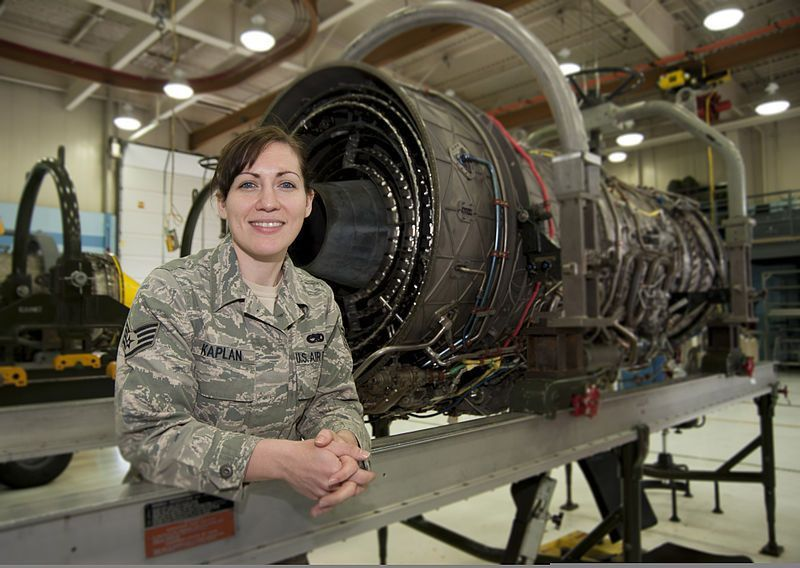 File:U.S. Air Force Staff Sgt. Kalene Kaplan, an aircraft engine ...