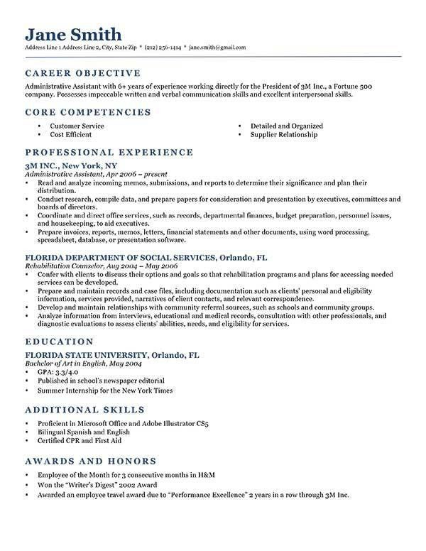Objective For Resumes 14 Resume Objective Samples Qualifications ...