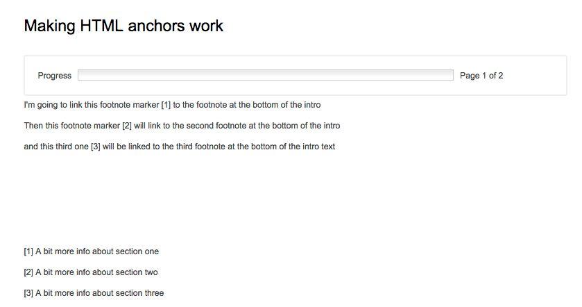 Creating footnotes - HTML anchors – Delib