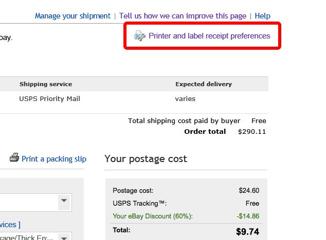 Print Shipping Label without Receipt? - The eBay Community