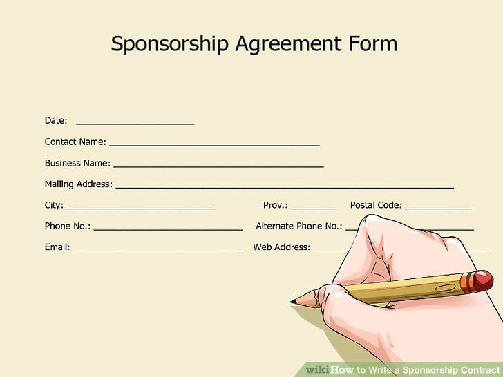 Sponsor Contract Template. 15 sponsorship agreement templates free ...