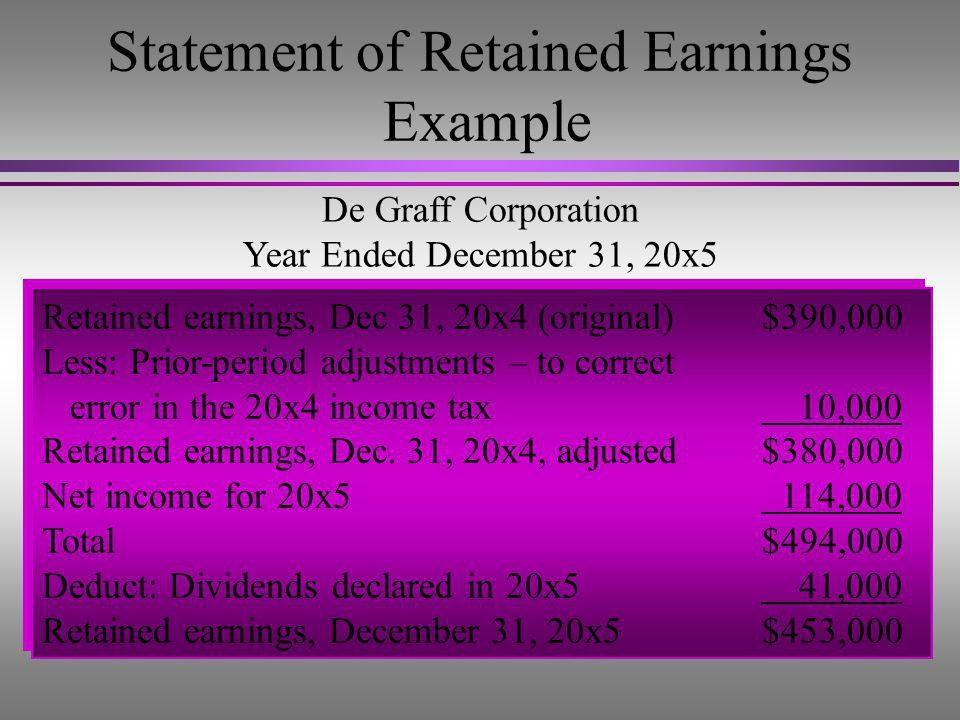 Retained Earnings, Treasury Stock, and the Income Statement - ppt ...