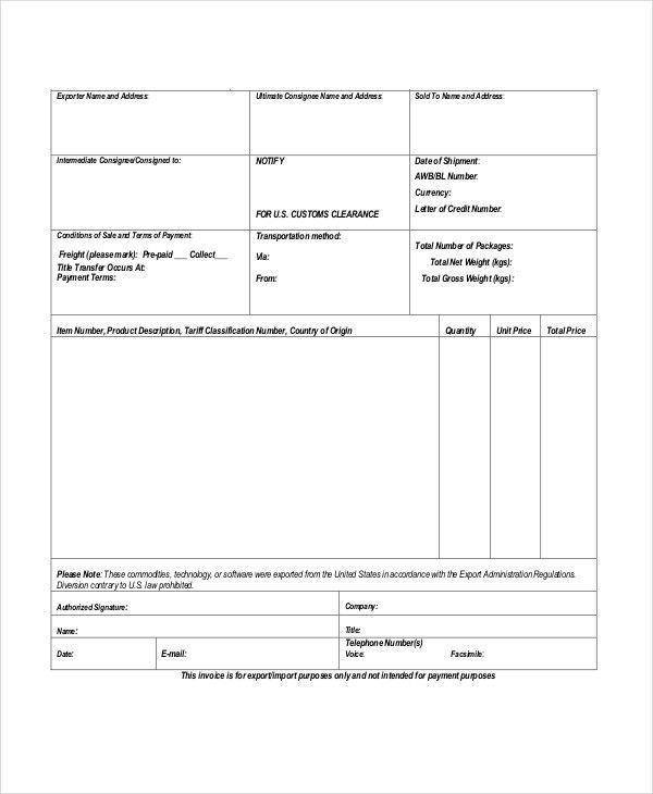 Proforma Invoice - 13+ Free Word, Excel, PDF Documents Download ...