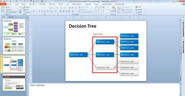 Decision Tree Template. Decision Tree Template For Powerpoint ...