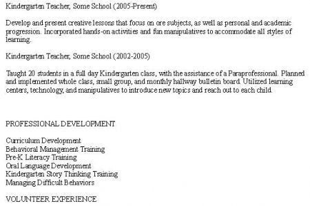 Early Childhood Teacher Assistant Resume Sample, Resumes For ...