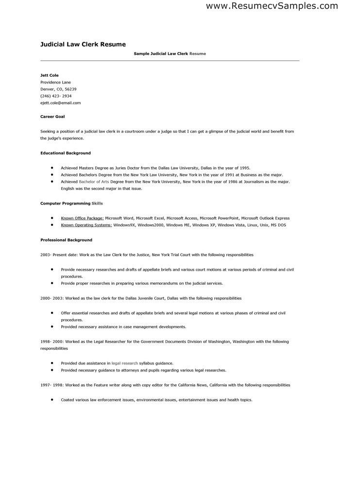 corporate and contract law clerk resume example resume law clerk ...