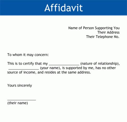 33+ Free Affidavit Form Templates in Word Excel PDF