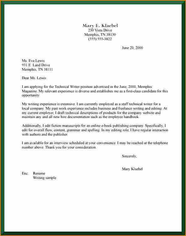 12+ job application cover letter format - Basic Job Appication Letter
