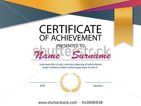 Modern Certificate Template Diploma Layout Stock Vector 375258760 ...