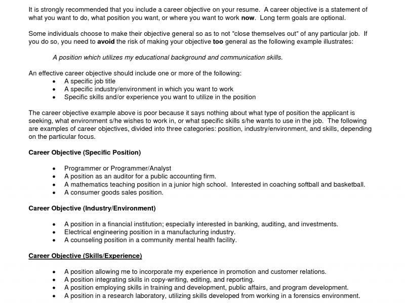 objectives of resumes resume objective examples resume cv resume ...