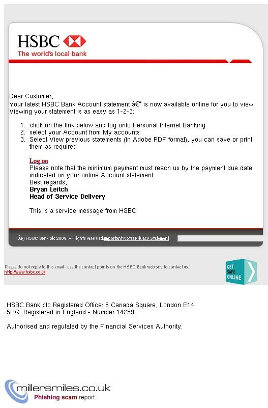 HSBC Bank Account Statement Is Now Available Online - Hsbc Bank ...