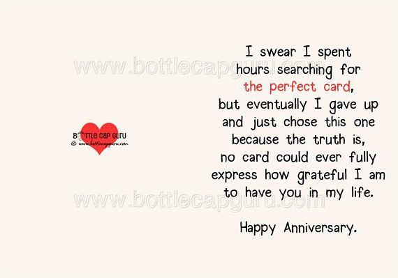 THE PERFECT CARD / Happy Anniversary / Romantic Card Printable