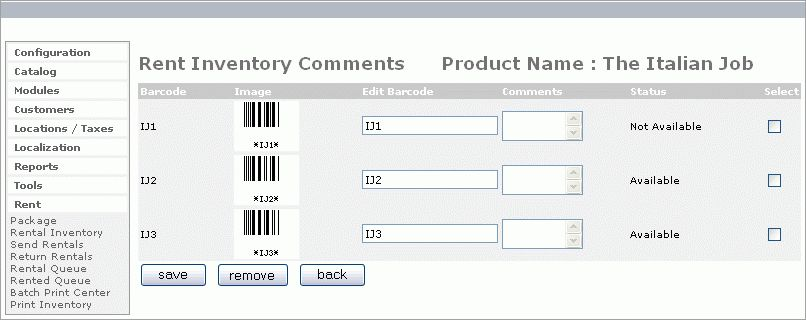 Online Rental Software DVD Videogame Shopping Cart Oscommerce E ...