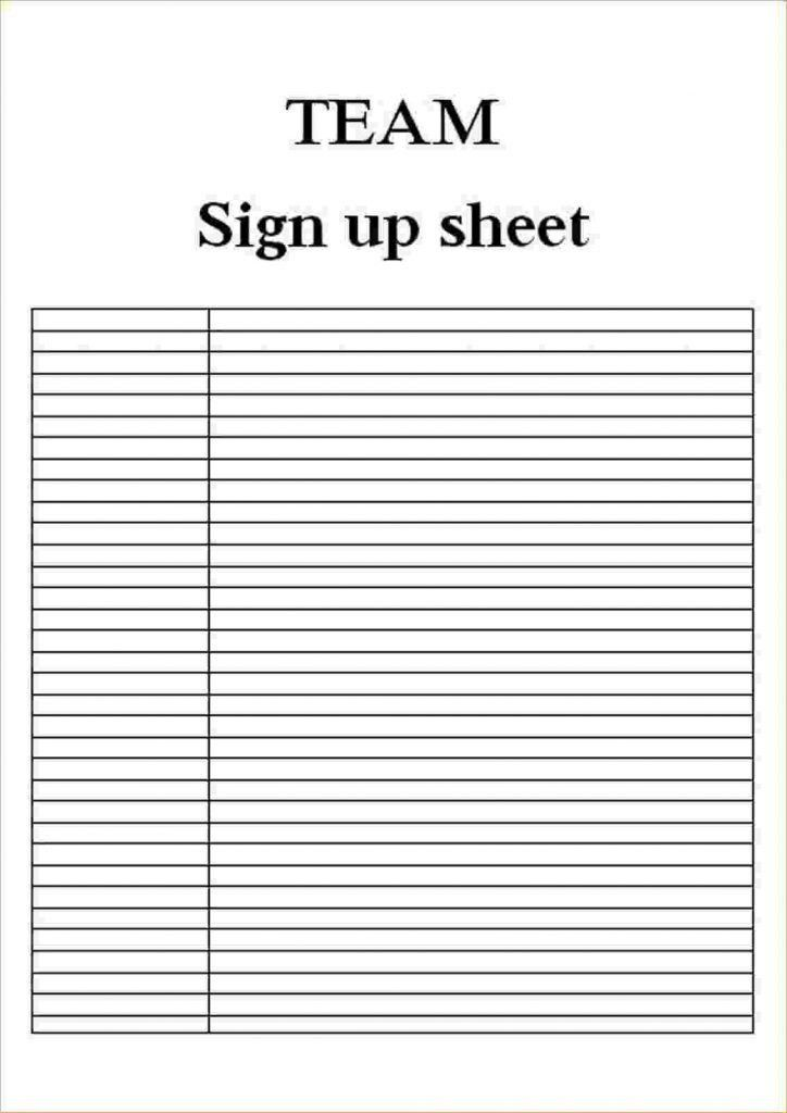 Sign Up Sheets Template Business Investment Contract Printable ...