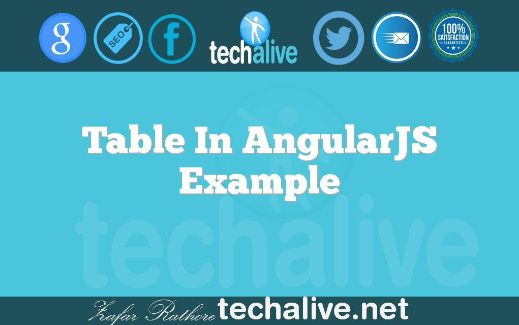 Table In AngularJS Example | techalive.net