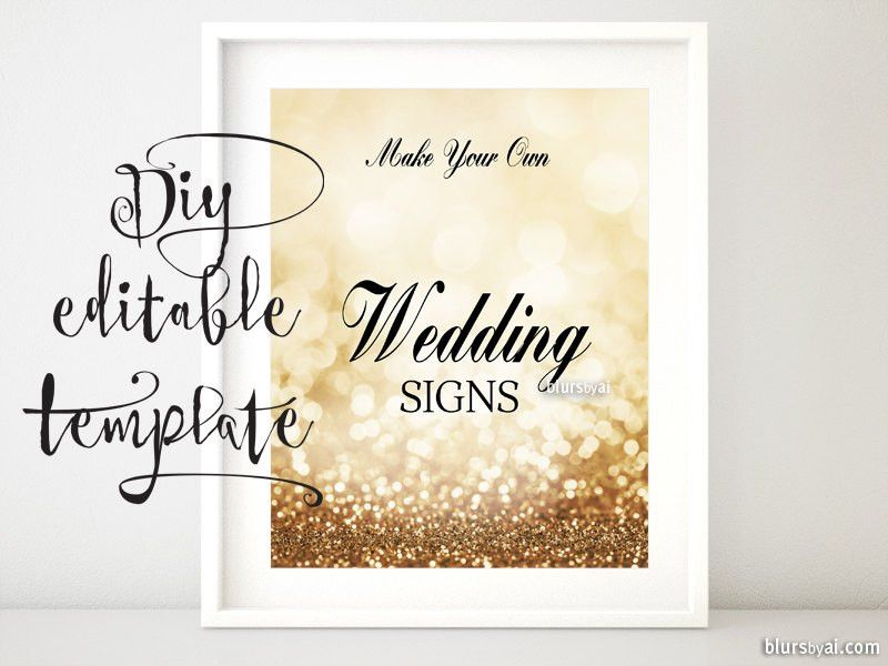 8x10 DIY Printable sign TEMPLATE for Word. Make your own
