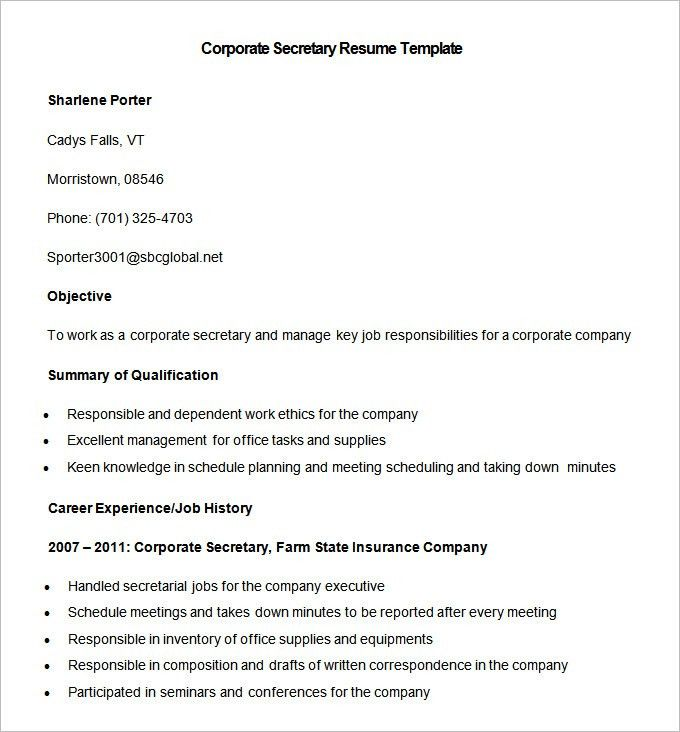 secretary resume templates medical secretary resume 19 builder