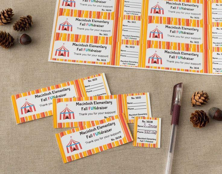 It's easy to create personalized tickets right from your printer ...