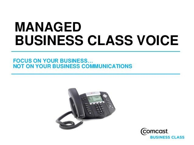 Comcast Business Class VoiceEdge Presentation