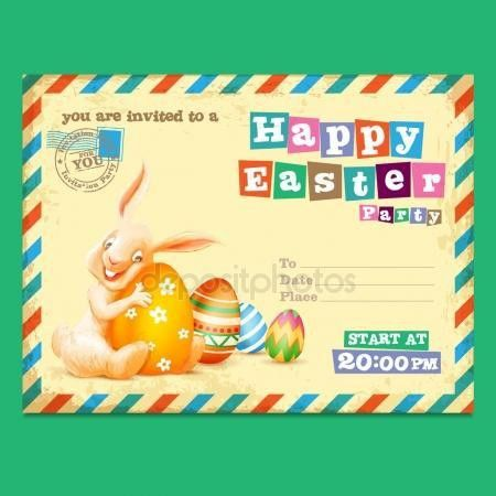 Easter Postcard Template. Easter Basket Colouring Card Easter ...