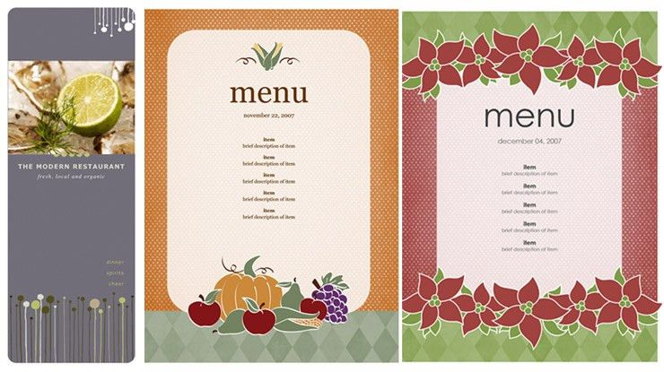 menu templates for microsoft word | Mytemplate.co