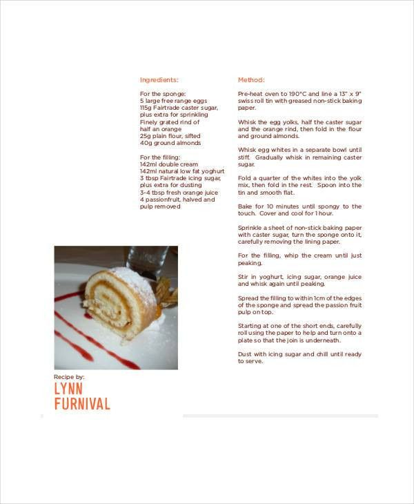9+ Recipe Book Templates - Free Sample, Example, Format | Free ...