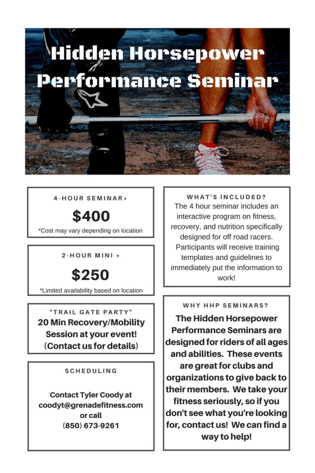 Seminars and Events - How to Train for Motocross