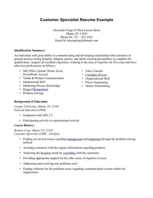 Summary Example For Resume. Resume Summary Examples ...