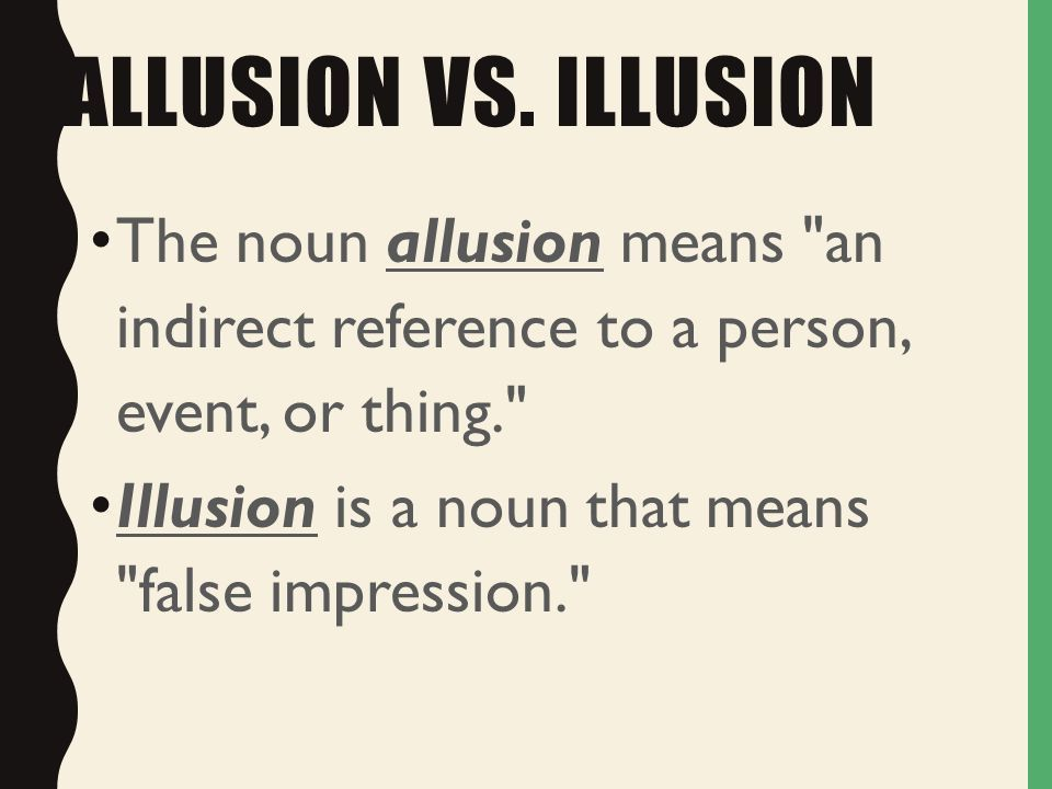 ALLUSION WHAT ON EARTH ARE YOU REFERRING TO? WHAT AM I REFERRING ...