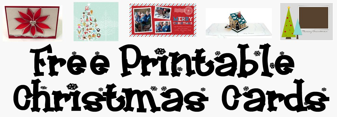 Free Printable Christmas Card Templates – AllCrafts Free Crafts Update