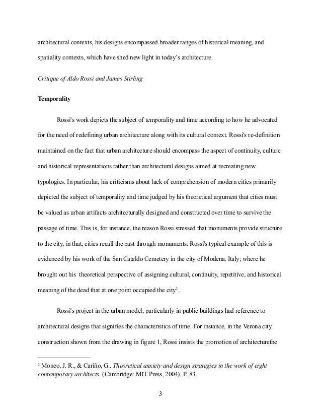 Architecture essay example