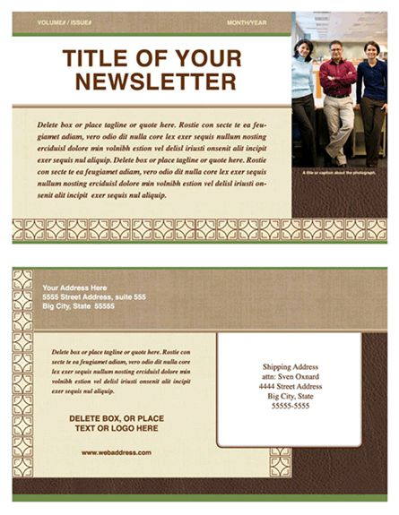 Newsletter Template | Newsletter Templates | Ready-Made Office ...