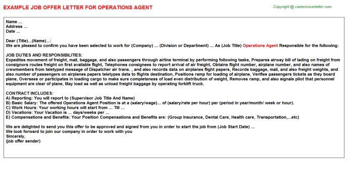 Operations Agent Job Title Docs