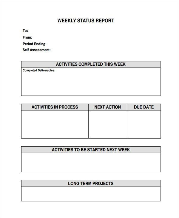 41+ Sample Weekly Report Templates | Free & Premium Templates