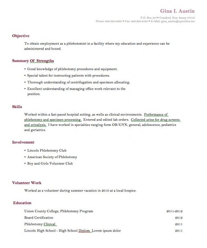 11 Student Resume Samples No Experience Resume Pinterest No ...