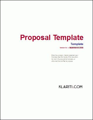 business proposal template word - Business Proposal Templated ...