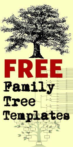 Free Family Tree Templates | awesome ideas | Pinterest | Free ...