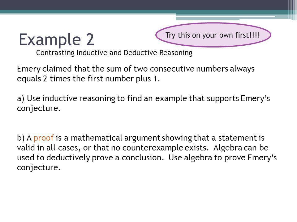 Topic 2 Deductive Reasoning Unit 1 Topic 2. Explore Deduction is a ...