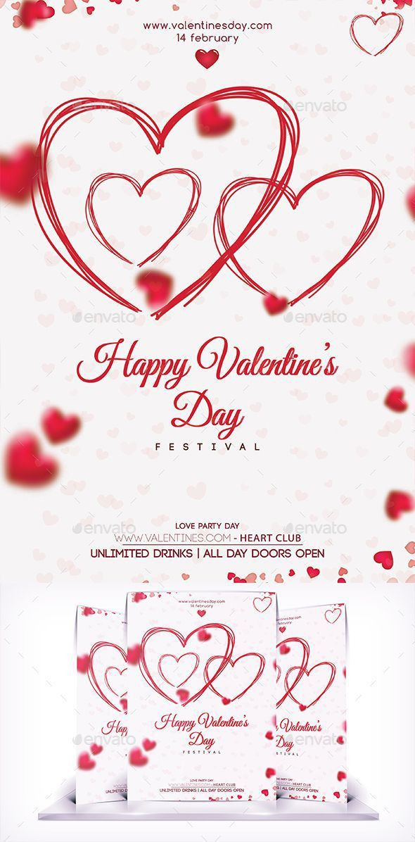 461 best Valentine's Flyer Templates images on Pinterest | Flyer ...