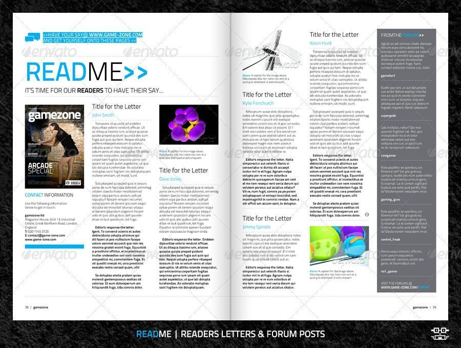 Video Game Magazine Template by bilmaw | GraphicRiver