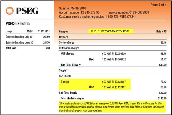 How to find the PSEG Electric Choice ID Number