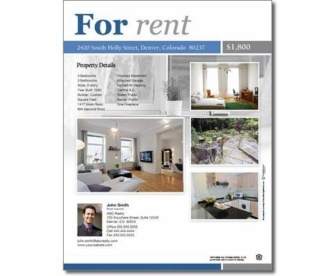 For Rent Flyers